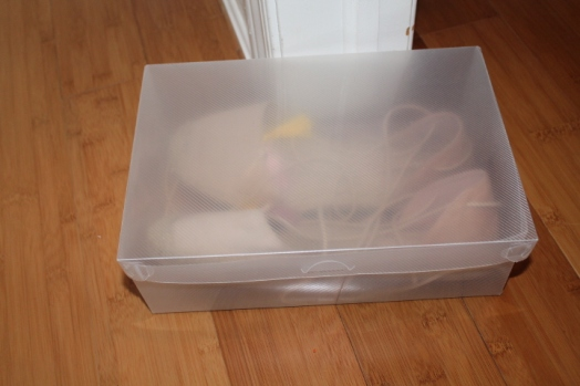 plastic shoe storage box